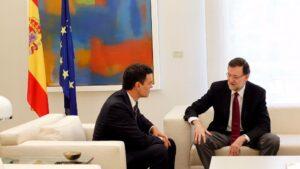 Mariano Rajoy, presidente del Gobierno con Pedro Sánchez, secretario general del PSOE