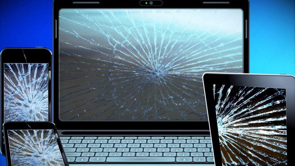 Aparatos electrónicos rotos