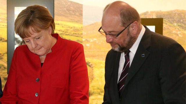 Angela Merkel y Martin Schulz
