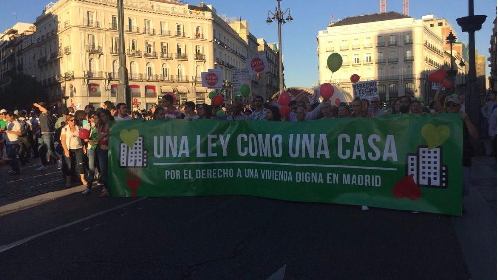 Manifestación por la ILP Vivienda Madrid