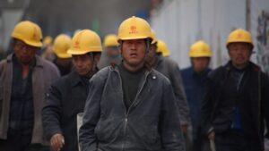 Trabajadores de una fábrica en China