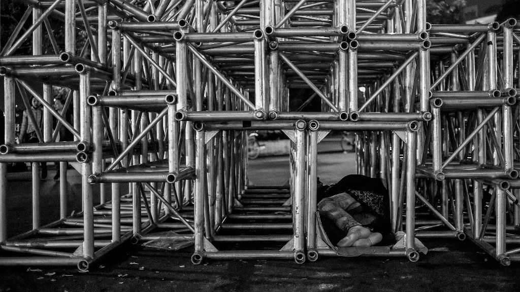 Persona sin hogar pobreza