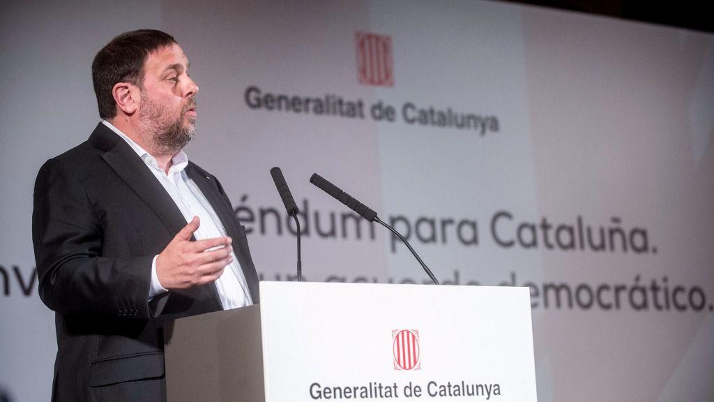 Oriol Junqueras, presidente de Esquerra Republicana de Catalunya y vicepresidente de la Generalidad de Cataluña.