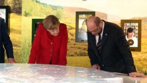 Angel Merkel y Martin Schulz