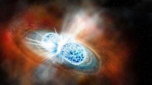 Ilustración de la colisión estelar que protagoniza la noticia científica del año para Science