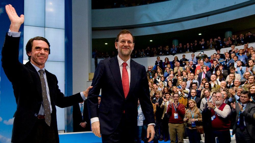 Jose Maria Aznar y Mariano Rajoy