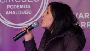 Idoia Villanueva, senadora de Podemos