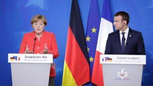 Angela Merkel y Emmanuelle Macron