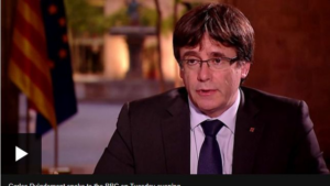 Carles Puigdemont en la cadena BBC.