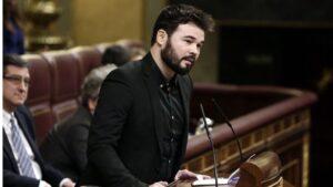 Gabriel Rufián, diputado de ERC.