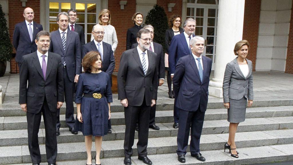 Mariano Rajoy y sus ministros.