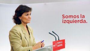 Carmen Calvo, Carmen Calvo, secretaria de igualdad del PSOE