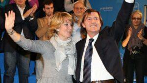 Esperanza Aguirre y Baltasar Santos