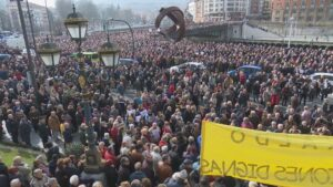 Manifestación por la subida de las pensiones