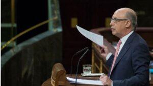 Cristobal Montoro, ministro de Hacienda y Función Pública