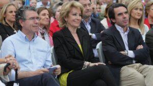 Franciasco Granados, Esperanza Aguirre, José María Aznar, Cristina Cifuentes y Manuel Cobo