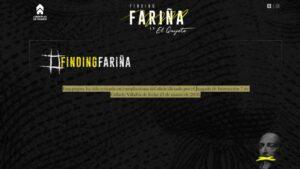 La página web Finding Fariña