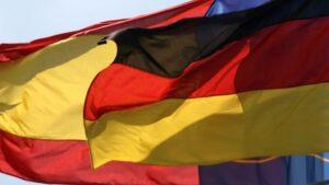 Banderas de Alemania y España