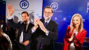 Rajoy, Cifuentes y De la Uz.