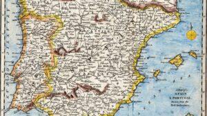 Mapa de la península ibérica