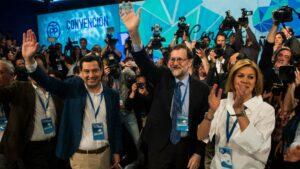 Mariano Rajoy, María Dolores de Cospedal y Juan Manuel Moreno