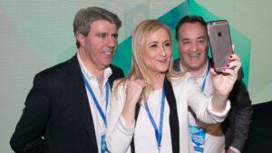 Cristina Cifuentes, Ángel Garrido y Jaime González Taboada