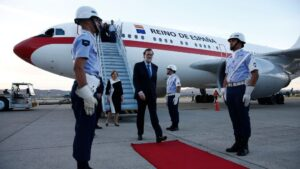 Mariano Rajoy, presidente del Gobierno, avion