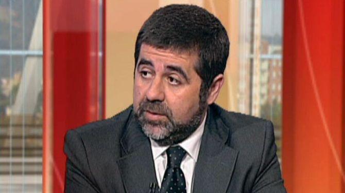 Jordi Sánchez, presidente de la Asamblea Nacional de Cataluña