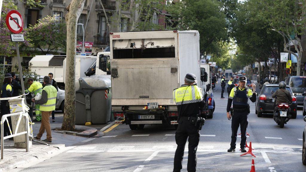 Accidente de camión en Barcelona