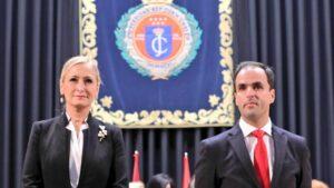 Cristina Cifuentes y el rector de la URJC, Javier Ramos.