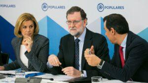 Mariano Rajoy, María Dolores de Cospedal y Fernando Martínez-Maillo