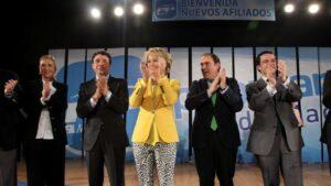 De izquierda a derecha: Cristina Cifuentes, Ignacio González, Esperanza Aguirre, Javier Bello y Javier Fernández-Lasquetty