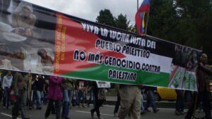 Manifestación a favor del pueblo de Palestina