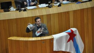 BNG rompiendo la foto de Felipe VI