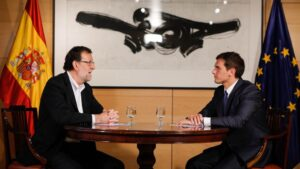 Mariano Rajoy, presidente del Gobierno con Albert Rivera, presidente de Ciudadanos