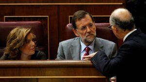 Cristobal Montoro, Mariano Rajoy y Soraya Sáenz de Santamaría