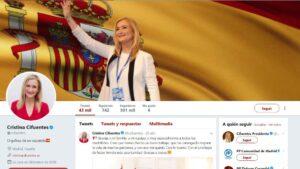 Perfil de Twitter de Cristina Cifuentes