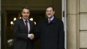 Zapatero y Rajoy.