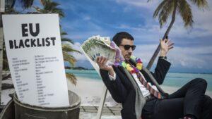 Campaña contra la evasión fiscal de Oxfam.