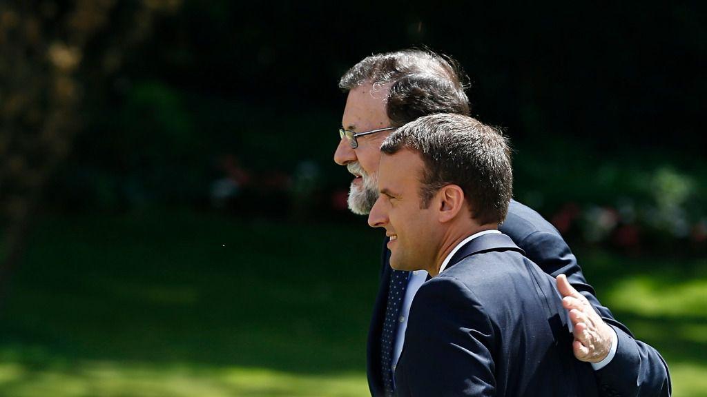 Mariano Rajoy y Emmanuel Macron