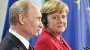 Angela Merkel y Vladimir Putin