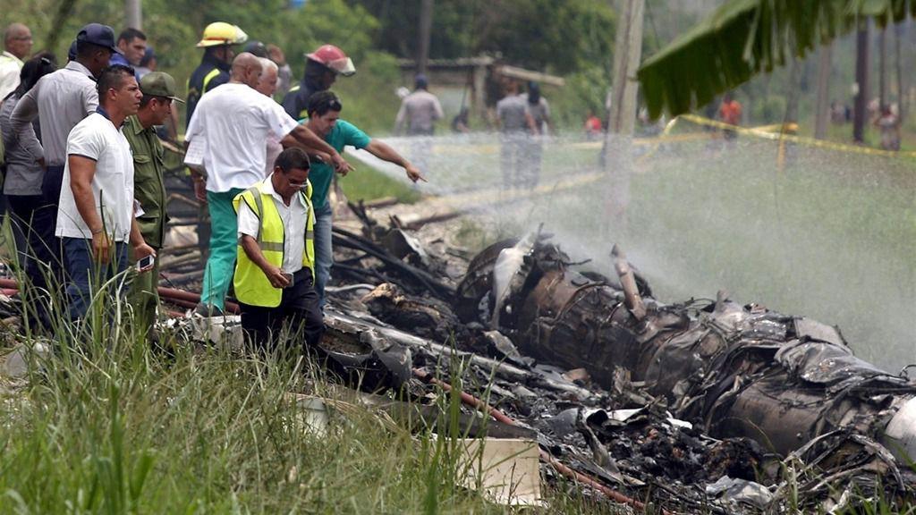 Accidente de avión en La Habana