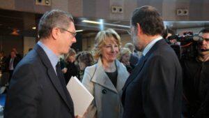 Gallardón, Aguirre y Rajoy