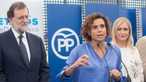 Mariano Rajoy, Dolors Montserrat y Cristina Cifuentes