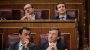 Pablo Casado, Javier Maroto, Rafael Hernando y Fernando Martínez-Maillo