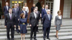 Ministros del Ejecutivo de Mariano Rajoy en la XIII legislatura.