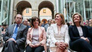 María Dolores de Cospedal, Soraya Sáenz de Santamaría, Pío García-Escudero y Fátima Báñez