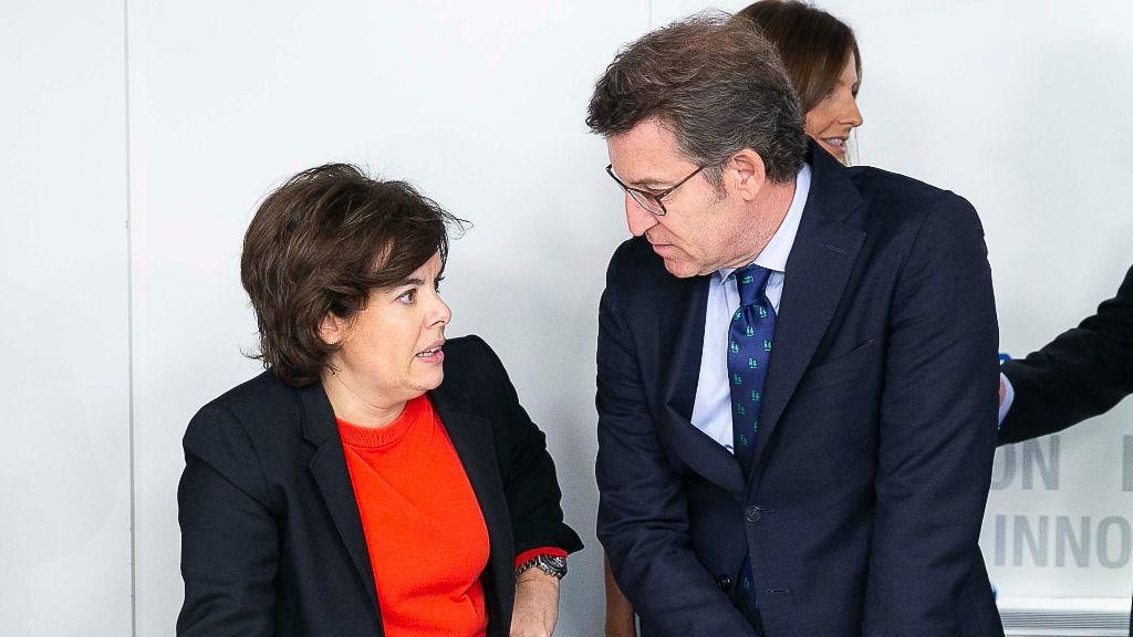 Soraya Sáenz de Santamaría y Alberto Núñez Feijóo