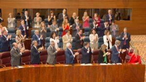 Bancada del PP en la Asamblea de Madrid