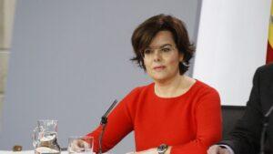Soraya Sáenz de Santamaría, vicepresidenta del Gobierno, ministra de la Presidencia y para las Administraciones Territoriales